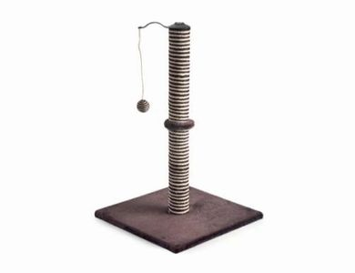 PET CHECK UK Scratch post with dangling ball