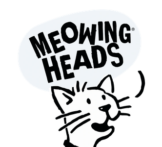 PET CHECK UK Meowing Heads cat food banner