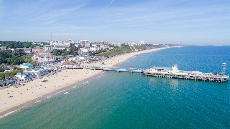 PET CHECK UK Bournemouth beach and pier Dorset
