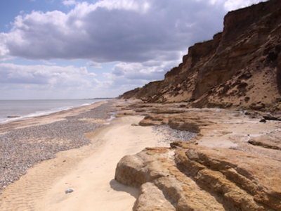 PET CHECK UK sandy Covehithe beach, Suffolk