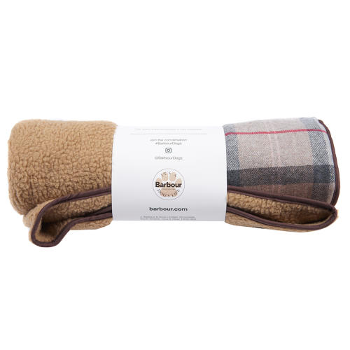 PET CHECK UK Barbour dogs check blanket